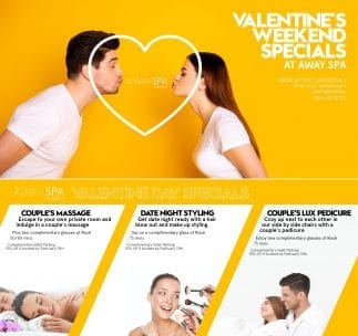 Valentine's Day Couples Massages @ AWAY Spa At W Fort Lauderdale