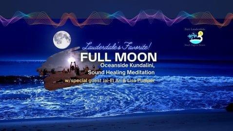 Full Moon Oceanside Kundalini Sound Healing @ Lisa Pumper- Ft. Lauderdale Beach Yoga & Fitmess