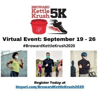 The Salvation Army of Broward County's Virtual Third Annual Kettle Krush 5K September 19 - 26 @ Salvation Army of Broward County
