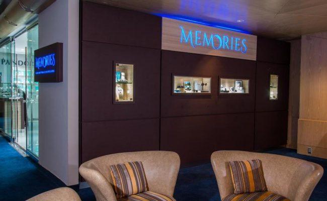 Memories Display Wall in Lobby of The Ritz Carlton