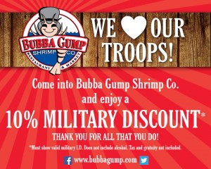 Bubba Gump Military Discount