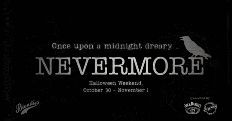 Nevermore: A PoEpic Halloween @ Blondies