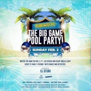 The Big Game Pool Party @ Hilton Fort Lauderdale Beach Resort