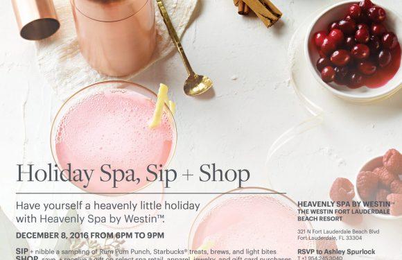 Holiday Spa, Sip + Shop