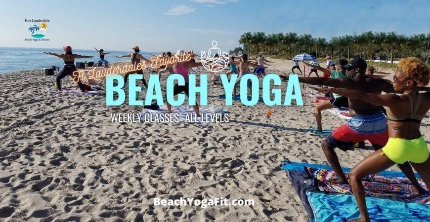 sunday am beach yoga