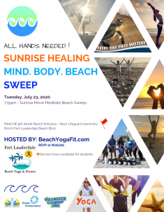 Sunrise Mind Body Beach Sweep @ Fort Lauderdale Beach |  |  |