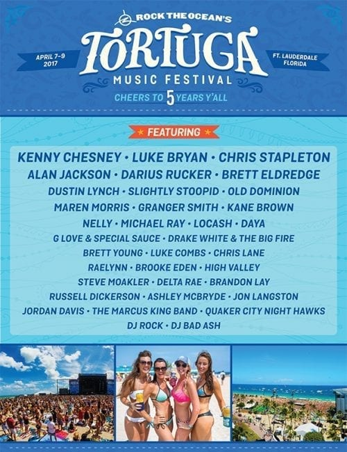 Tortuga Music Festival Announces 2017 Line Up