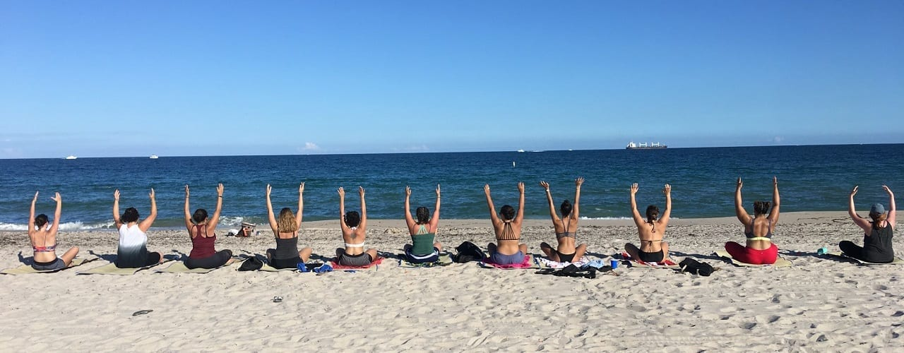 fort lauderdale beach yoga workout classes