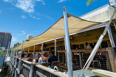 end your walking tour around fort lauderdale beach at coconuts restaurant for a captivating sunset