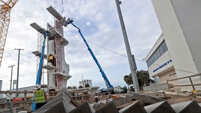 fort lauderdale aquatic center dive tower installation
