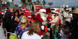 Santa Claus on the Beach @ Fort Lauderdale Beach | Fort Lauderdale | Florida | United States