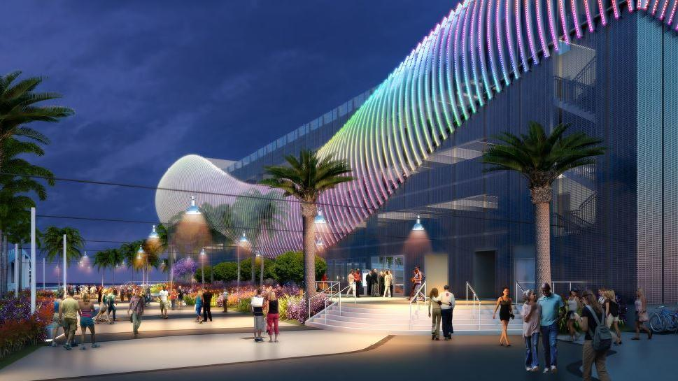 Fort Lauderdale S 21 Million Parking Garage Seen As Dramatic Gateway To The Beach My