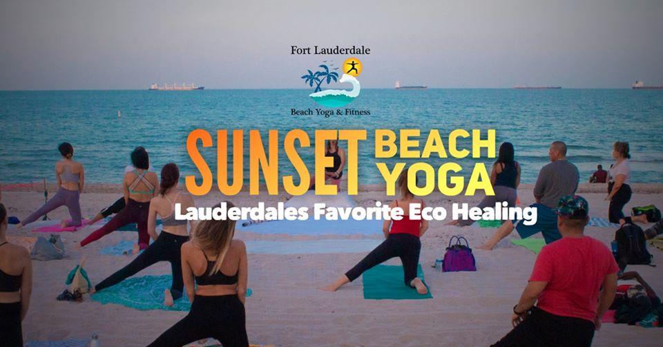 Sunday Sunset Beach Yoga @ Fort Lauderdale Beach N.