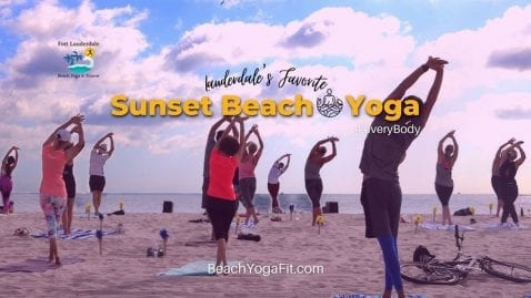 Sunset Slow Beach Yoga Flow -Ft Lauderdale Beach  @ 5.30 PM @ Fort Lauderdale Beach Yoga & Fitness | Fort Lauderdale | Florida | United States