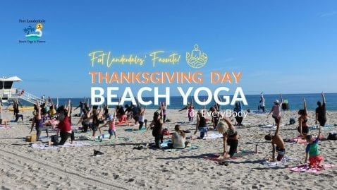 Thanksgiving Day Yoga @ Fort Lauderdale Beach