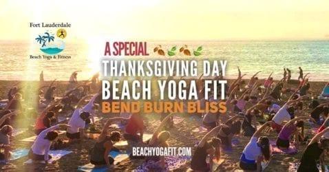 Thanksgiving Day Beach Yoga @ Fort Lauderdale Beach |  |  |