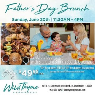 Father's Day Brunch at Wild Thyme @ Wild Thyme